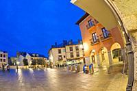 Square of the Encina, Street Scene, Typical Architecture, Old Town, Ponferrada, El Bierzo Region, León Province, Castilla y León, Spain, Europe.