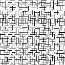 horizontal and vertical black stripes