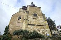 Bergerac is a commune and a sub-prefecture of the Dordogne department in southwestern France Aquitaine on December 6, 2018: St Jacques church.
