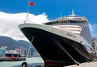 "Cunard's """"Queen Victoria"""" alongside Gibraltar Harbour Quay."
