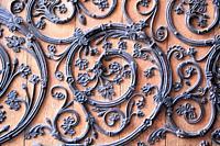 Portal details of Notre Dame de Paris, France.