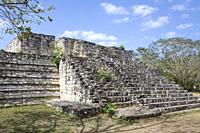 Structure 17,Ek Balam, Yucatec-Mayan Archaeological Site, Yucatan, Mexico