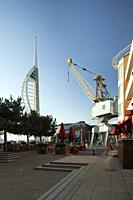 Afternoon at Gunwharf Quays in Porstmouth, Hampshire, England.