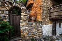 Old house in Chora of Alonissos island, Greece. .