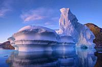 Icebergs, Icefjord, Greenland.