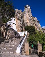 Castillo de la Alcozaiba. El Castell de Guadalest. Alicante. Valencian Community, Spain.