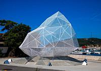 Naoshima pavilion by Sou Fujimoto, Seto Inland Sea, Naoshima, Japan.