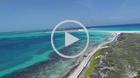 Los Roques, WATER CAY, ( CAYO DE AGUA) Caribbean sea. Fantastic landscape. Aerial view of paradise island bequeve with blue water. Great caribbean bea...