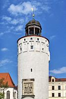 The Thick Tower was built in 1250 and is 45 meters high. He was part of the city fortification of Goerlitz, Saxony, Germany, Europe.