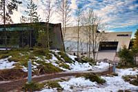 Artipelag in winter, Halludden Peninsula, Varmdo, Sweden, Scandinavia. Artipelag is an international venue for art, culture and design on Varmdo in th...