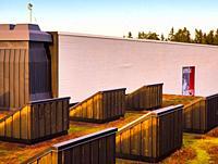 Rooftop view, Artipelag, Halludden Peninsula, Varmdo, Sweden, Scandinavia. Artipelag is an international venue for art, culture and design on Varmdo i...