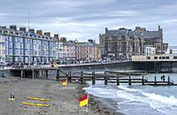 The seafront promenade at Aberystwyth, Wales.