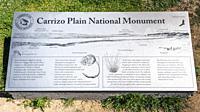 Interpretive sign, Carrizo Plain National Monument, California USA.