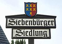 Herten, Langenbochum, D-Herten, D-Herten-Langenbochum, Ruhr area, Westphalia, North Rhine-Westphalia, NRW, place-name sign Transylvanian settlement wi...