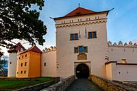 Main gate of the castle in the town of Kezmarok, Slovakia.