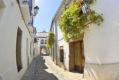 Arco de Jerez, Intramural View, Old Town, Zafra, Badajoz, Extremadura, Spain, Europe.