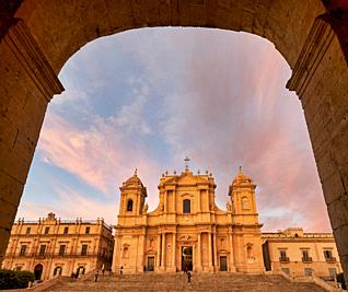 Noto Cathedral Sicily Italy.