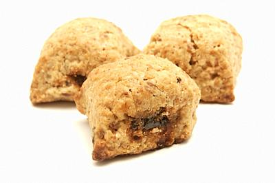 Ceglie biscuits on a white background.