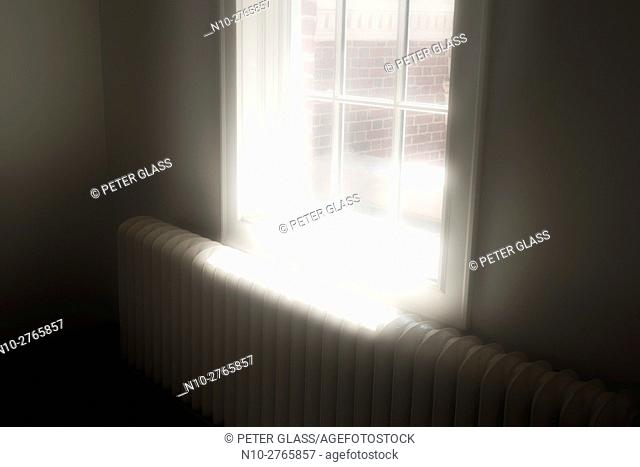 Sunlight entering through window