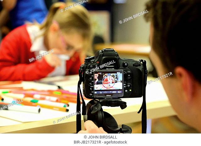 Photographer at Mysight ,Nottingham, charity for visually impairment