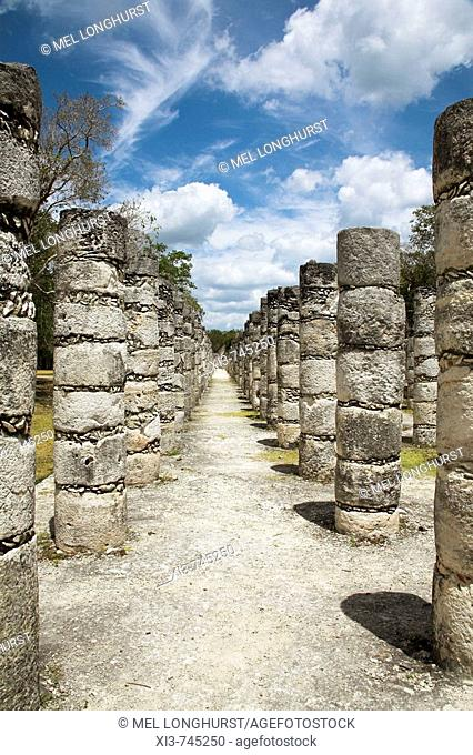 Group of the Thousand Columns, Chichen Itza Archaeological Site, Chichen Itza, Yucatan State, Mexico