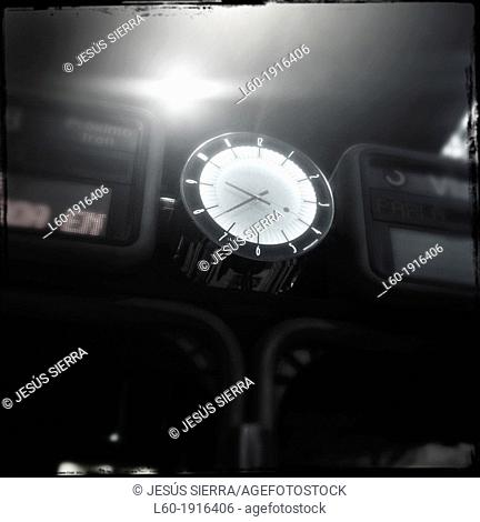Clock in RENFE station, Madrid, Spain