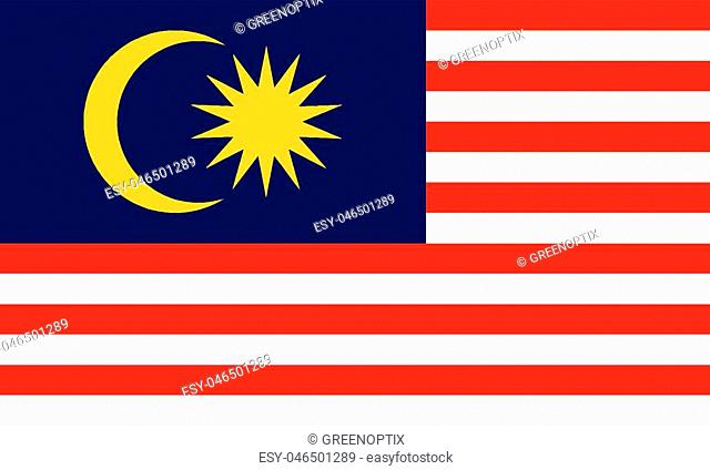 Detailed Illustration National Flag Malaysia