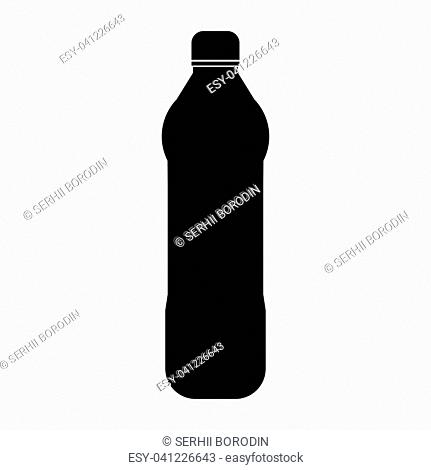 Water plastic bottle it is the black color icon