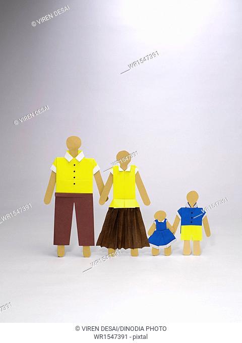 origami family icon India Asia