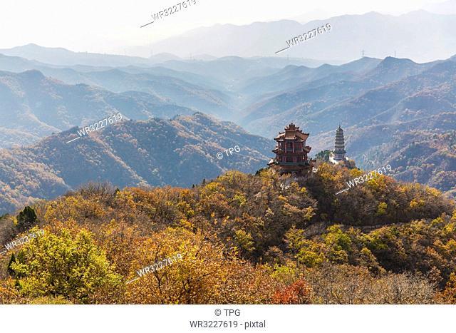 Autumn color of Xiantang Mountain;China