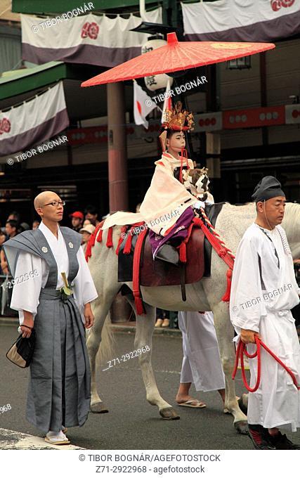 Japan, Kyoto, Gion Matsuri, festival, Shinko-sai, procession, sacred child,