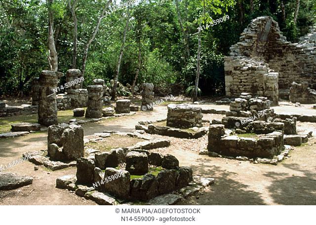 Mayan ruins. Quintana Roo, Yucatán, Mexico
