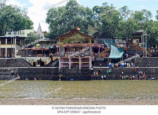 narsobawadi ghat on Krishna river, kolhapur, Maharashtra, India, Asia