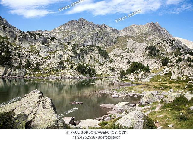 Estany de les Obagues de Ratera along the GR 11 trail, Aigüestortes i Estany de Sant Maurici National Park - Lleida, Cataolina, Spain