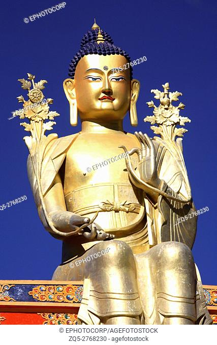 40 feet statue of Lord Buddha at Shey Gompa, Ladakh, Jammu Kashmir, India