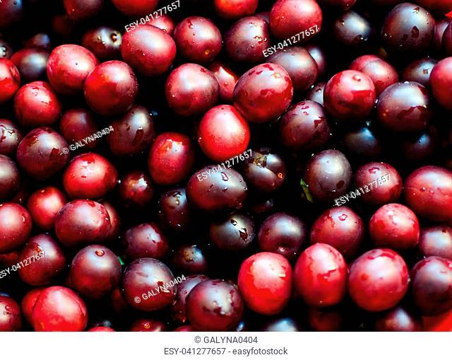 Sweet delicious berries for dessert in summer