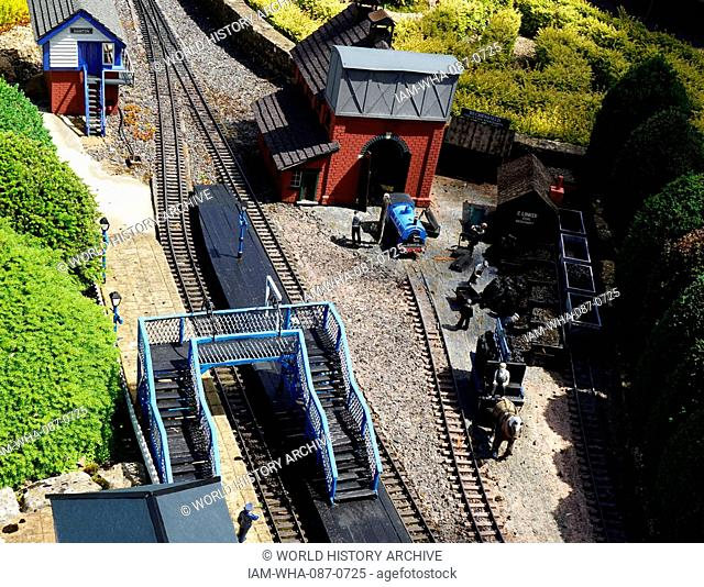 Coal mine from Bekonscot in Beaconsfield, Buckinghamshire, England, is the oldest original model village in the world. It portrays aspects of England mostly...