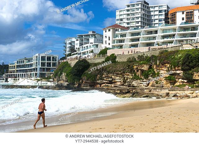 Seafront apartments overlooking Bondi beach, Sydney Australia