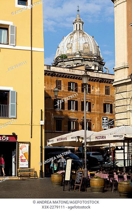 View from Piazza Campo dei Fiori. Rome, Italy