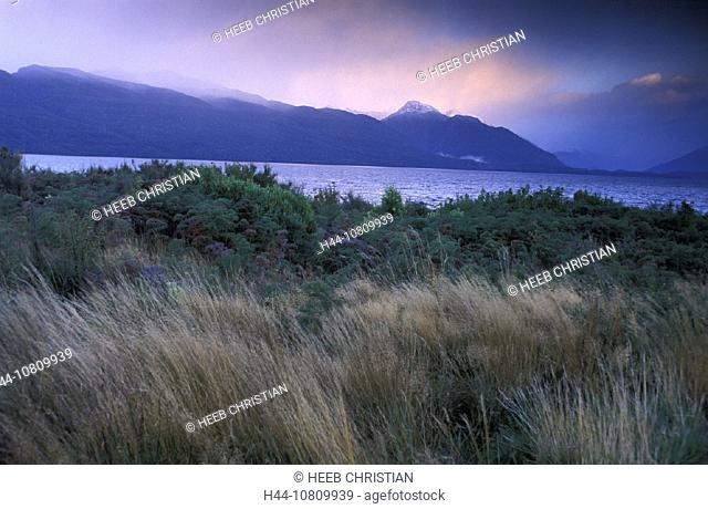 Lake Te Anau, Fiordland, national park, South, Island, Lake, Sunrise, New Zealand, landscape