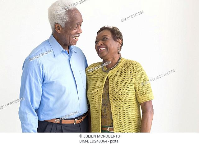 Portrait of smiling older Black couple