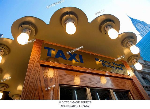Taxi rank booth New York City, USA