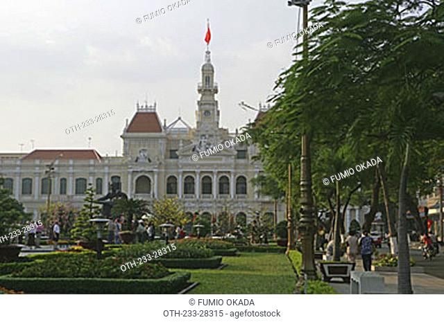 At the People's Committee Building, Ho  Chi Minh City, Vietnam