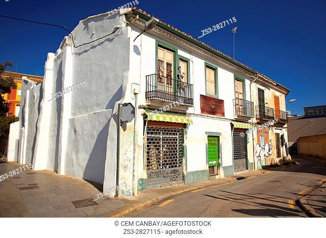 Mediterranean style buildings in Volta del Ressinyol street, Valencia, Spain, Europe