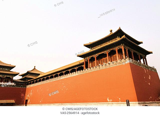 Beijing, China - The view of Wumen, the front gate of Forbidden City