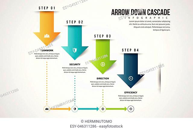 Vector infographic presentation design element template