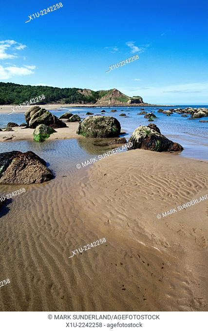 Rocks and Tide Pools at Osgodby Point oir Knipe Point Cayton Bay Scarborough North Yorkshire England