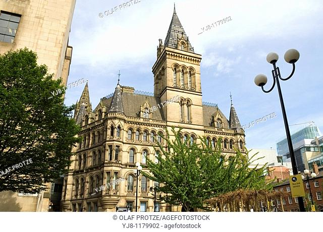 Manchester Town Hall is a building in Manchester, England that houses Manchester City Council  Completed by architect Alfred Waterhouse in 1877