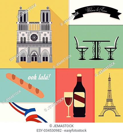 France concept with culture icons design, vector illustration 10 eps graphic