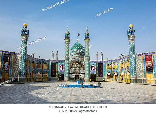 Courtyard of Holy shrine of Imamzadeh Helal Ali (Hilal ibn Ali) in Aran va Bidgol, Isfahan Province in Iran